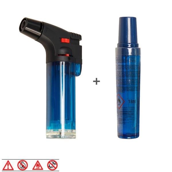 JET Feuerzeug - Sturmfeuerzeug - Sichere Zündung auch bei Wind - inkl Nachfüllpatrone
