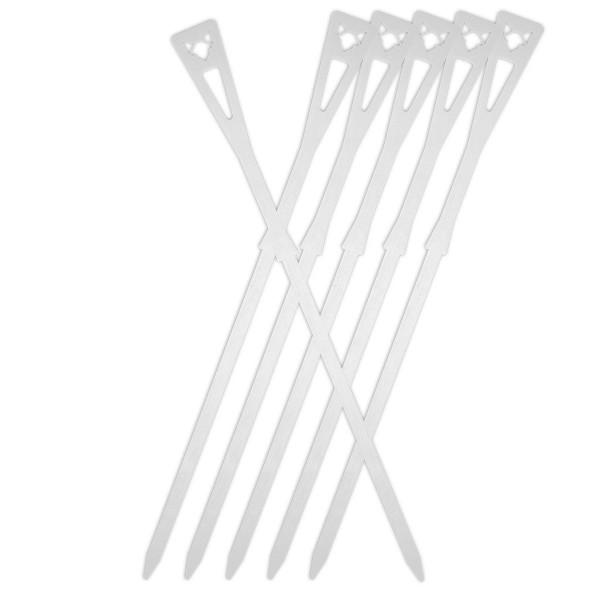 FENNEK Grillspieße/Schaschlikspieße - Edelstahl - L: 34,5cm - 6er Set