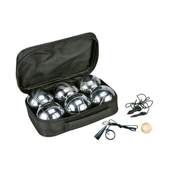 Boule Set - 6 Stahlkugeln mit Tasche und Zubehör