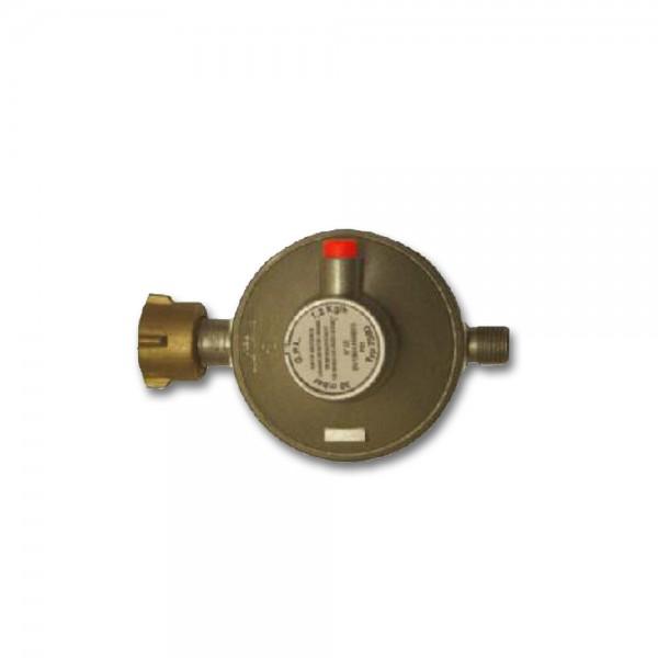 """Gasregler Niederdruck einstufig 30mbar - 1,2kg/h - KLF x 1/4"""" links - FAHRZEUG EN 12864 Annex D"""
