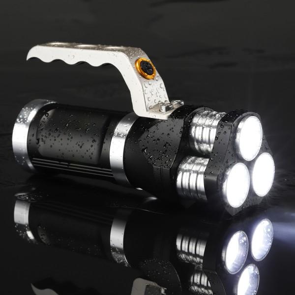 LED Handlampe - kaltweiße LED - 750lm - 16 x 4,8 x 6,3cm