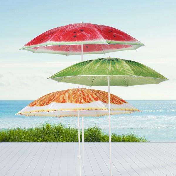 "Sonnenschirm ""Wassermelone"" - D: 150cm - 50+ UV Schutz - rot"